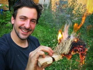 Wildnis Training Feuerbohren