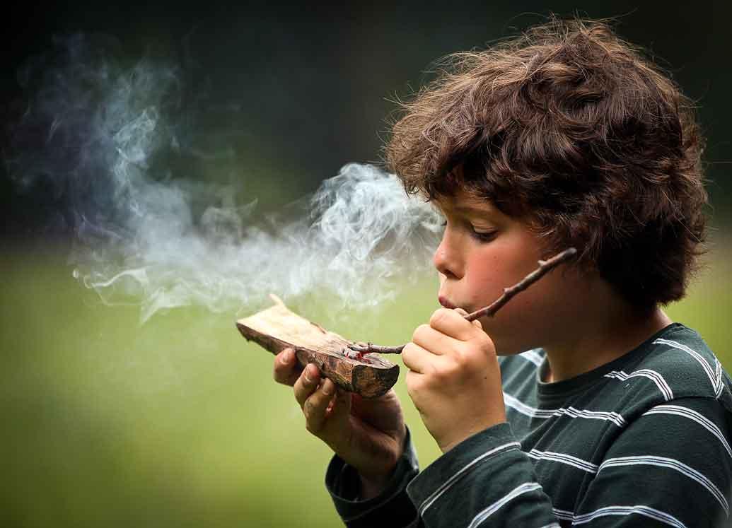 Survival fuer Kinder Naturhandwerk