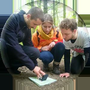 Outdoor Kurs Orientierung Karte Kompass