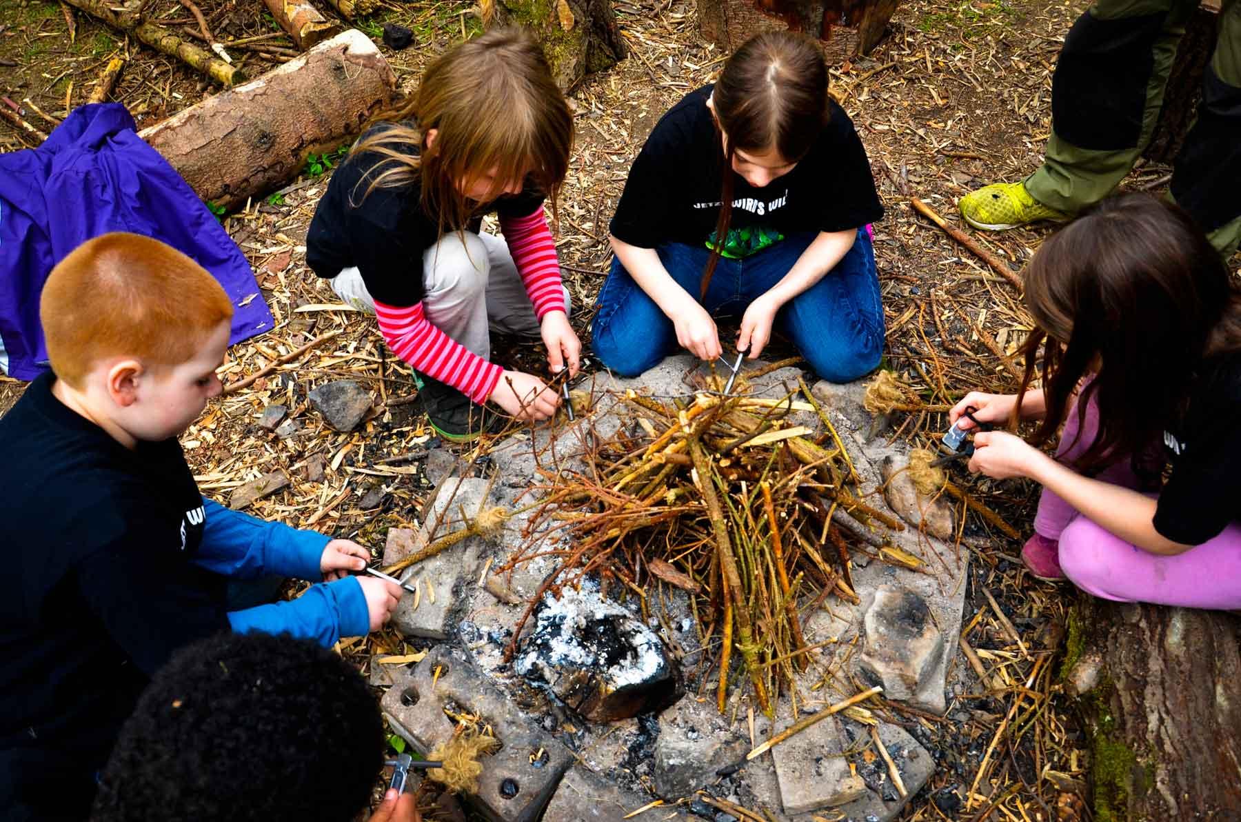 Survival fuer Kinder Feuer