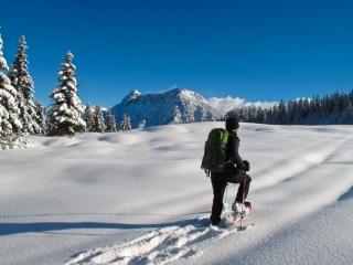 Outdoor Trekking Guide Ausbildung Schneeschuhwandern Touren begleiten lernen