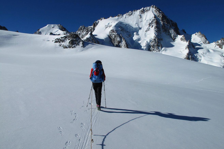 Outdoor Trekking Guide Ausbildung Bergwandern Gletscherueberquerung