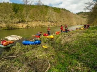 Outdoor Trekking Guide Ausbildung Packrafting Kurs
