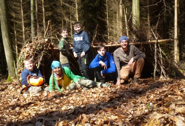Survivalkurs Kinder Wildnisschule Weltenwandler