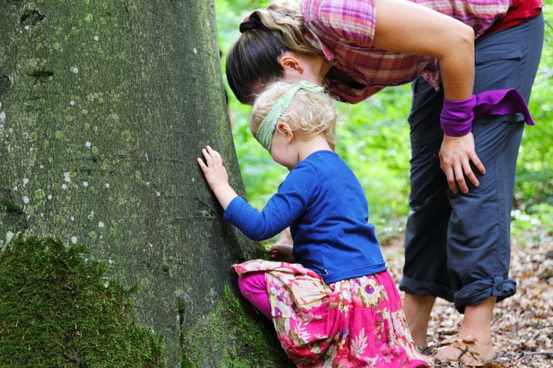 Mutter Tochter Wildnis Natur Wochenende