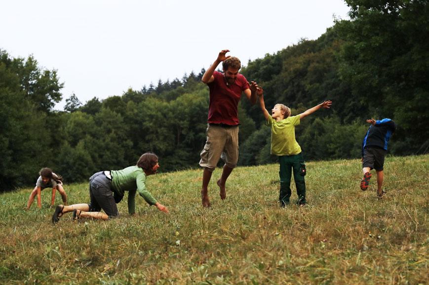 Familie Wildnis Survival Wochenende
